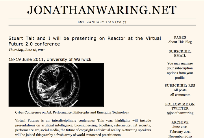 jonathanwaring.net v0.7