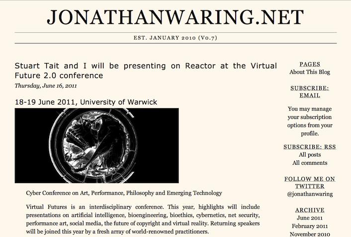 jonathanwaring.net v0.7